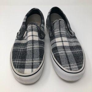 Vans Shoes - New Vans slip on plaid black white 7.5 Women 53df894bb